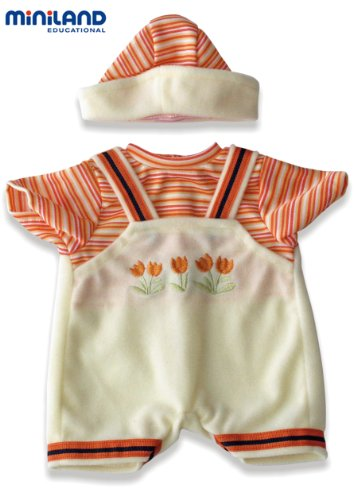 Miniland Jumper And Hat Set With Tulip Stitching For 8.5'' Baby Dolls front-926864