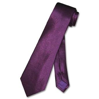 BOY'S NeckTie Solid EGGPLANT PURPLE Color Youth Neck Tie
