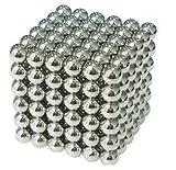 強力磁石の立体パズル!マグネットボール216個セット AZ-magnetball-シルバー