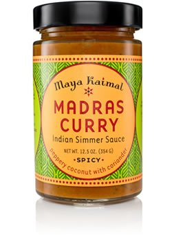 MAYA KAIMAL SAUCE SIMMER MADRAS CURRY, 12.5 OZ (Case of 6) (Indian Curry Simmer Sauce compare prices)