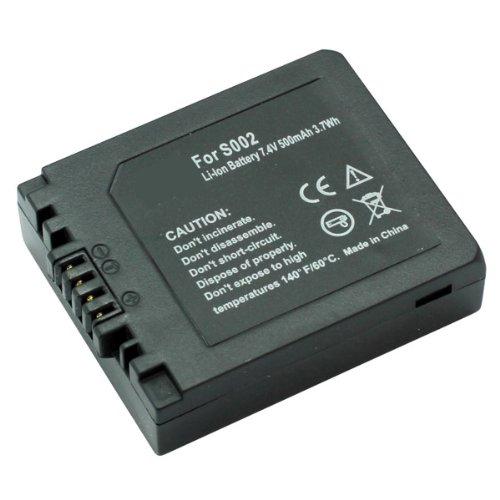 Akku, Ersatzakku DMW-BM7 / CGA-S002 mit 500mAh !!! für Panasonic LUMIX DMC-FZ1 / DMC-FZ2 / DMC-FZ3 / DMC-FZ4 / DMC-FZ5 / DMC-FZ10 / DMC-FZ15 / DMC-FZ20 / DMC-FC20 / DMC-C20 Li-Ion PDA-Punkt