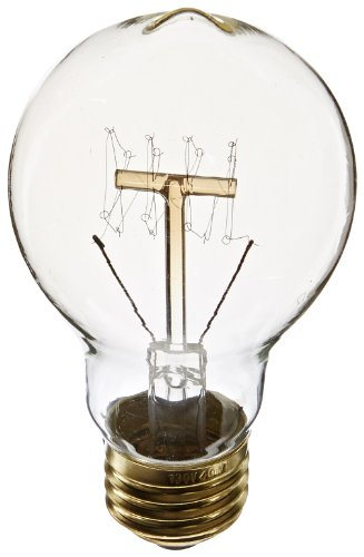 Heirlume Hl-0340Wpack1 Vintage Edison Bulb 40-Watt With Medium Base, 2.4-Inch X 4.4-Inch, 1-Pack