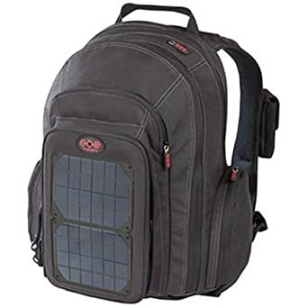 Voltaic Systems 1010 OffGrid Solar Backpack, Removable Front Charging Panel - 4W Solar Charger, 3000mAh Battery - for Handheld Electronics - Charcoal - (cp)