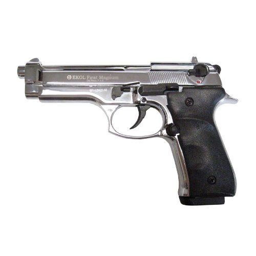 Firat Magnum V92F Blank Firing Replica Gun   Chrome Finish by Ekol