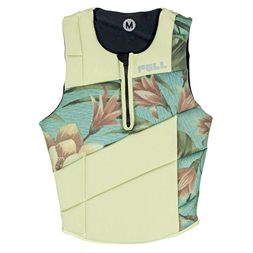 Pull Maritime Accessories Scallywag Wakeboard Comp Life Vest, Beige, Small