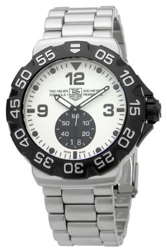 TAG Heuer Men's WAH1011.BA0854 Formula 1 Grande Date White Dial Stainless Steel Watch