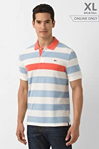 Tall Short Sleeve Pique Barstripe Polo