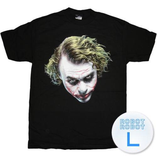 バットマン ダークナイト ジョーカー フェイスTee/DC Comics Batman Dark Knight Joker Face T-Shirt アメコミ 映画Tシャツ L【並行輸入】