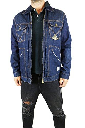 ROY ROGERS giacca uomo jeans tg. 50 blu cotone AK407