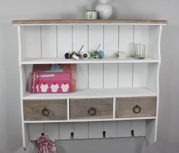 Wandregal küche antik  Wandregal Wandablage Garderobe braun weiß Landhaus NEU antik ...
