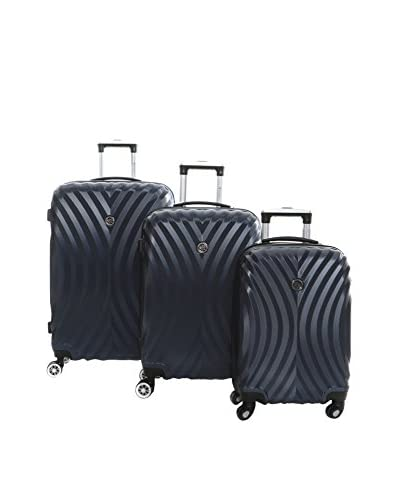 Geographical Norway Set de 3 trolleys rígidos Sheraton Azul Marino