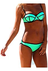 Push up Bright Bling Bikini Set Swimsuit Swimwear