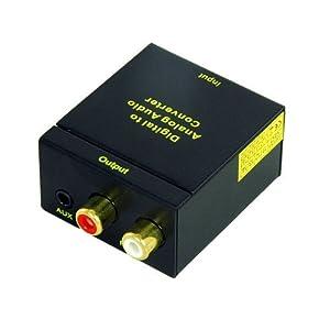 KanaaN Audio Digital to Analog Converter 2nd Generation - SPDIF/ Toslink to R/L Audio Converter - Digital (Toslink/Coaxial) to Analogue (Cinch) and 3.5 mm Jack Converter - Audio Converter DAC