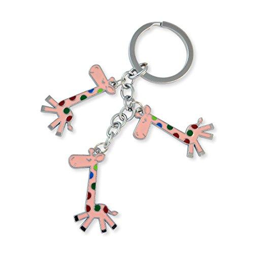 Giraffe Silver Color Key Chain By Sarah - B00XJ9EP2S