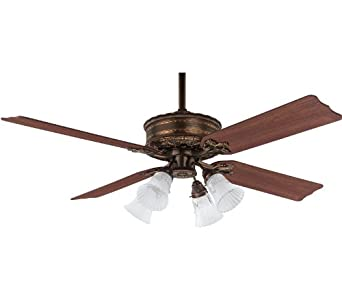 Covent Garden Ceiling Fan in Bronze Patina with Reversible Dark Cherry/Medium Oak Blades