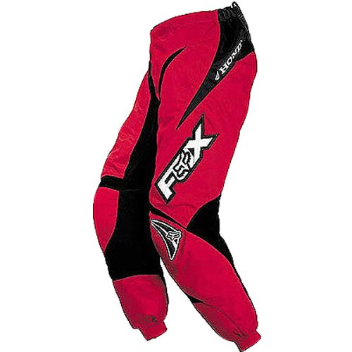 Fox Racing Honda 180 Kids Dirt Bike Motorcycle Pants w/ Free B&F Heart Sticker - Color: Red, Size: 22