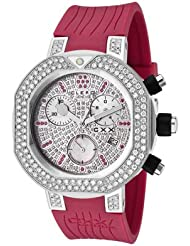 Women's CXX Scuba 2.94 CTTW White Diamonds and 0.42 CTTW Red Rubies Magenta Rubber