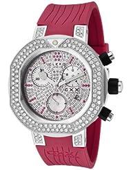 Women's CXX Scuba 2.94 CTTW White Diamonds and 0.42 CTTW Red Rubies Magenta Rubber
