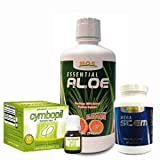 Gastritis + Stem Cell Enhancer Healthful Combo = Cymbopil 100% Natural – 1 Drol + Mega Stem (60 Capsules) + Essential Aloe Vera (Fights the Helicobacter Pylori Bacteria and the Chronic Gastritis)