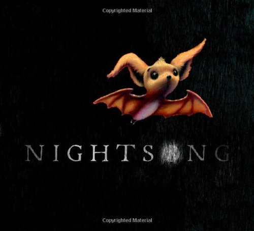 Nightsong Book Cover, bat flying