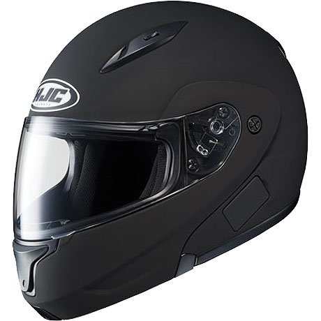 HJC Solid Men's CL-MAX II Bluetooth Sports Bike Motorcycle Helmet – Matte Black / X-Large