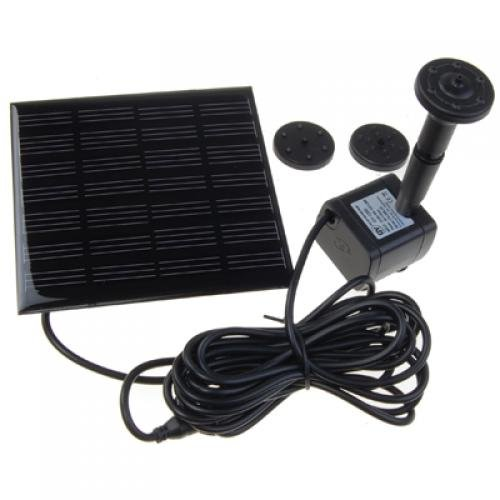 1.2 Watt Solar Power Water Pump Garden Fountain / Submersible Pump with Suckers at the Bottom, Features A Square Solar Panel to Be Staked on the Ground