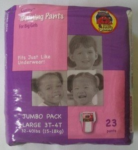 Curity Toddler Pull-On Training Pants For Girls, Size Large (32 - 40 Lbs), Case Of 4/23S (92 Ct)
