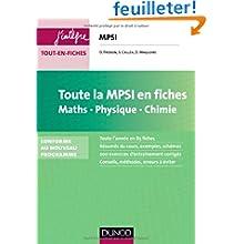 Toute la MPSI en fiches - Maths, Physique, Chimie - Conforme au nouveau programme