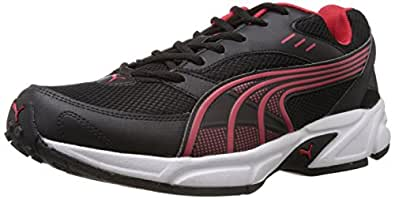 Puma Men's Storm Ind. Black and High Risk Red Running Shoes - 6 UK/India (39 EU)