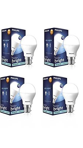 Philips 14W B22 LED Bulb (Cool Daylight, Pack Of 4)