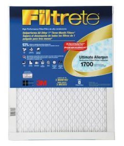 Cheap 16x25x1 (15.7 x 24.7) Filtrete 1700 Ultimate Allergen Reduction Filter by 3M (4 Pack) (B003NUATEQ)