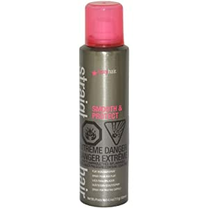 Straight Sexy Hair smooth & Protect Flat Iron Hairspray by Sexy Hair for Unisex - 4.1 Ounce Hair Spray