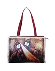 Bhamini Digital Tote Bag (Maroon)