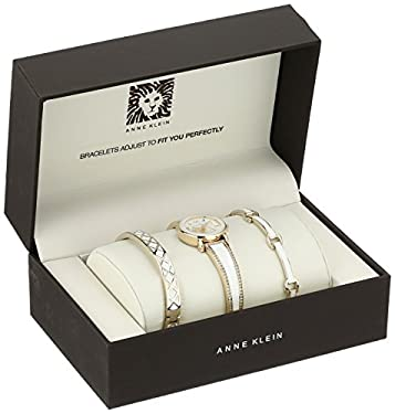 Anne Klein Women's Quartz Metal and Alloy Dress Watch, Color:White (Model: AK/2052WTST)