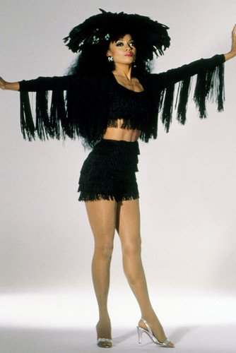 Diana Ross Sexy Black Costume