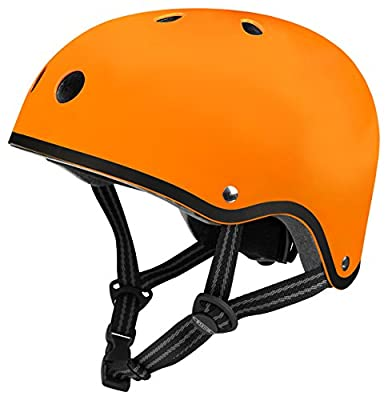 Micro Safety Helmet Matt Orange Small for Boys and Girls Cycling, Scooter, Bike from Micro Scooters