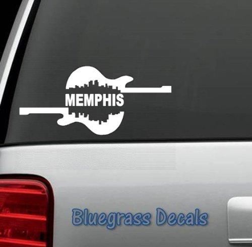 B1017 Memphis City Guitar Vinyl Decal Sticker For Car Truck Suv Van Window Laptop Wall Art Hard Rock Electric Blues Cafe Elvis