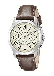 Fossil Chronograph White Dial Mens Watch - FS4839