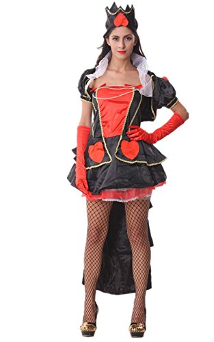 Voglee Enchanting Queen of Hearts Hallowen Fany Costume Suit