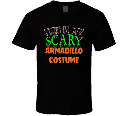 This Is My Scary Armadillo Halloween Costume Funny Animal T Shirt 2XL Black (Armadillo Costume)