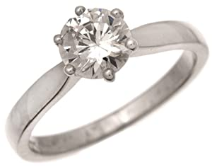 Bague Femme Solitaire Fiancailles Or Blanc 750/1000 et Diamant Brillant 2.00 Carat JK-I3 Taille 52
