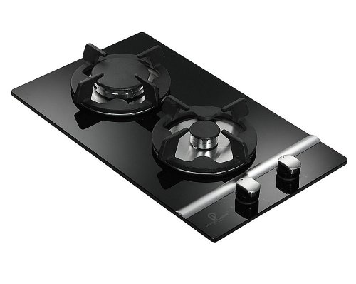 Premier Range 2 Ring 30cm Black Glass Built in Gas Hob A-Series Pro