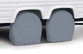 "Classic Accessories 80-086-181001-00 RV Wheel Cover, Pair, Grey, 36"" - 39"" Wheel Diameter"