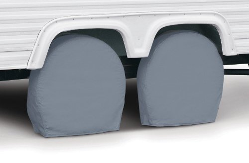 Classic Accessories 80-084-161001-00 RV Wheel Cover, Pair, Grey, 29