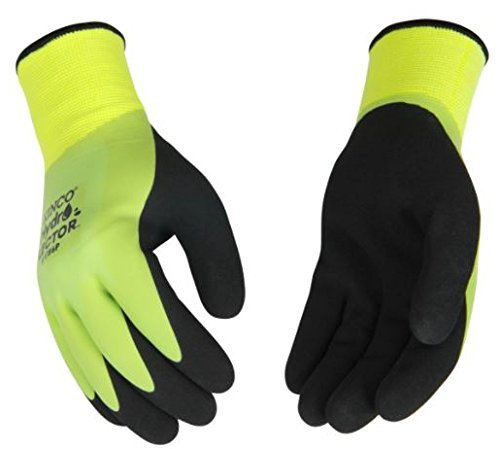 Hydroflector Waterproof Double Thermal Knit Shell & Double Coated Latex Green Glove (6, Extra Large) (Tamaño: Extra Large)