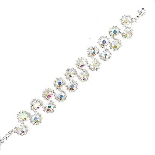 JOA Rhinestone Multi Circle Design Bracelet #039520