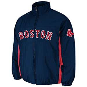 Boston Red Sox Navy Authentic Double Climate On-Field Jacket by Majestic by Majestic