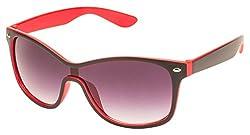 Mask UV Protected Wayfarer Unisex Sunglasses - (20104 | 57 | Grey)