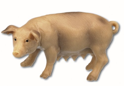 Bullyland Sow Female Pig Plastic Toy Figure - 1