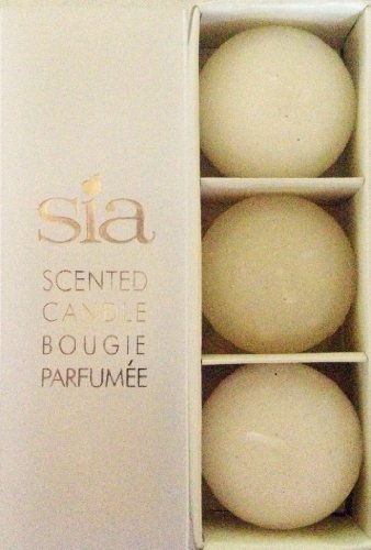 Sia Home Fashions Decor Collection 6-Hour Magnolia Scented Floating Candles, White, Box of 3